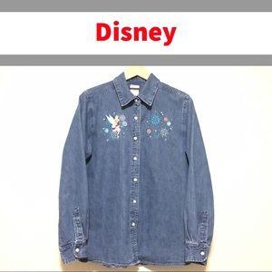 Vintage Disney Tinker Bell Denim Shirt